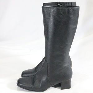 WHITE STAG Electra Leather Mid Calf Zip Up Boots